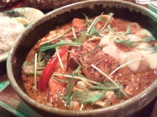 炙りラフテーとゴーヤのスープカレー
